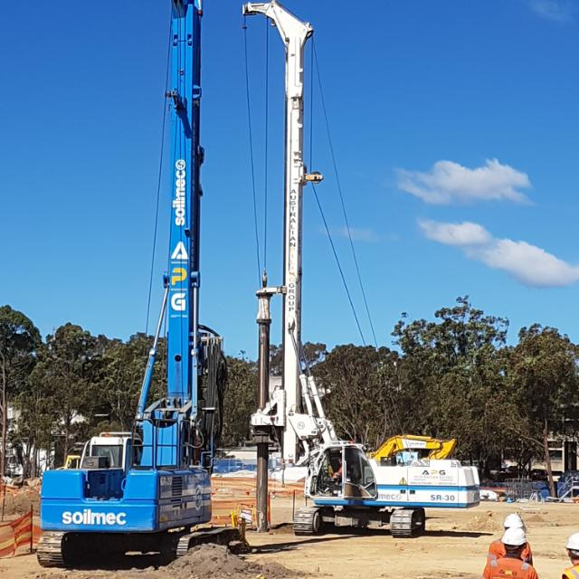 Piling Contractor, Piling Sydney, Piling Works in Sydney, bored piles, secant piles, contiguous pile wall, Piling company, piling company in Sydney. Shoring system